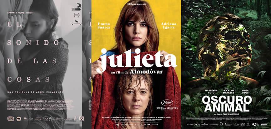 <i>El sonido de las cosas</i>, <i>Julieta</i> y <i>Oscuro Animal</i>, finalistas del Premio PLATINO al Mejor Cartel Cinematográfico