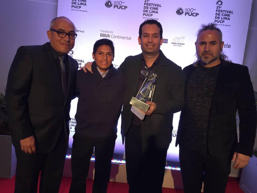 EGEDA Perú entregó dos premios en el marco del 21 Festival del Cine de Lima