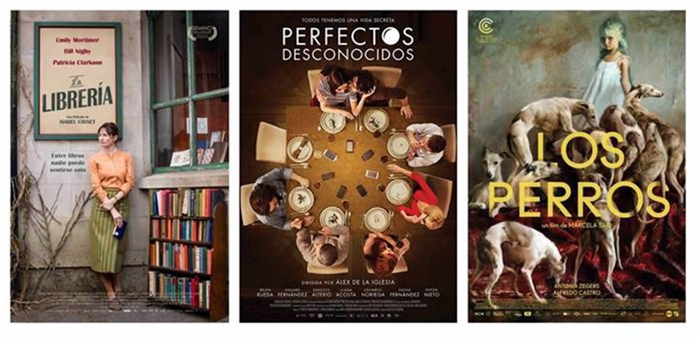Los afiches de La Librería, Perfectos desconocidos y Los Perros aspiran al Premio PLATINO al Mejor Cartel Cinematográfico