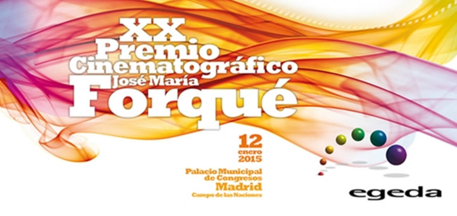 Esta noche tendrá lugar la XX Edición del Premio Cinematográfico José María Forqué