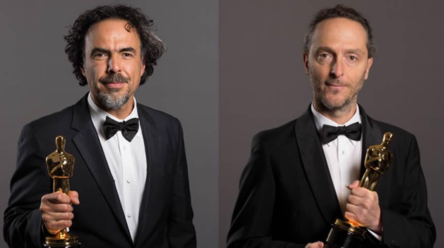 Iñárritu y Lubezki viven una noche mágica en la 87 Gala de entrega de los Oscar